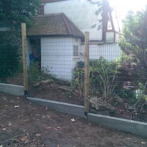clôture en cours