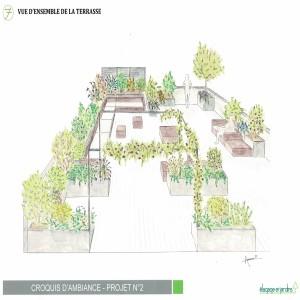 SAINT CLOUD perspective terrasse projet N°2