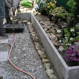 maynier  23 03 2015 construction muret jardin avant